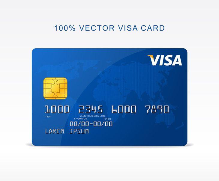 Free Vector Visa Credit Card Fribly Visa Credit Card Visa Credit Credit Card Design