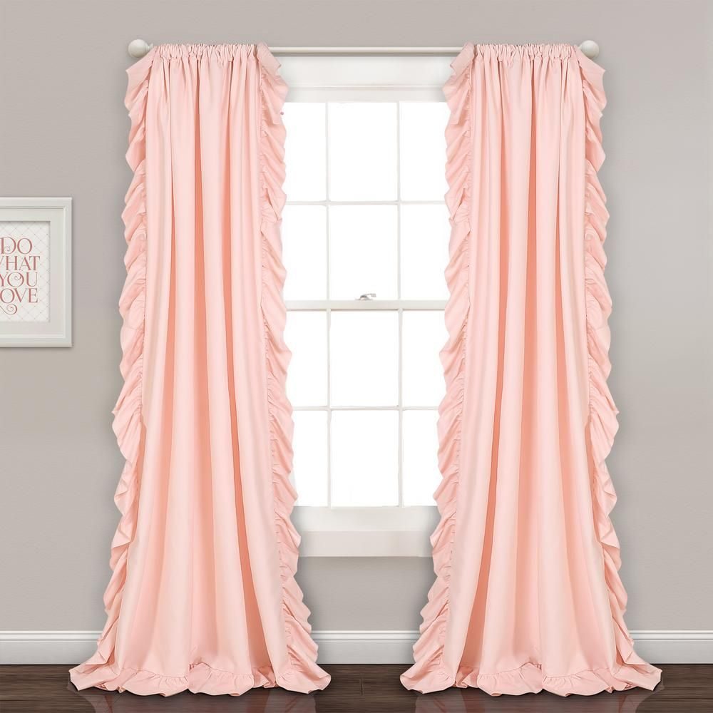 Lush Decor Reyna Window Panels Blush Pink 84 X 54 2 Pc Set 100
