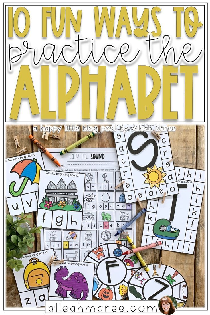 10 Fun Ways To Practice The Alphabet Alleah Maree In 2020 Alphabet Activities Phonics Kindergarten Alphabet Centers