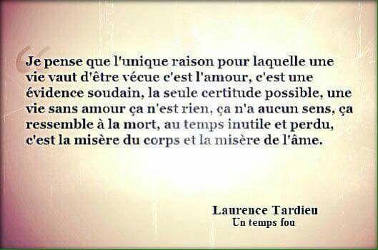 Un temps fou - Laurence Tardieu