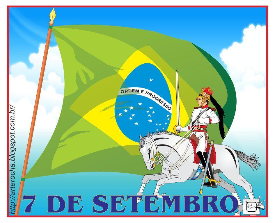 DRAGÃO DA INDEPENDÊNCIA E BANDEIRA DO BRASIL Minha homenagem ao 7 de setembro com uma ilustração alusiva a data. Desenho - Ilustração - Illustration - Drawing http://arterocha.blogspot.com.br