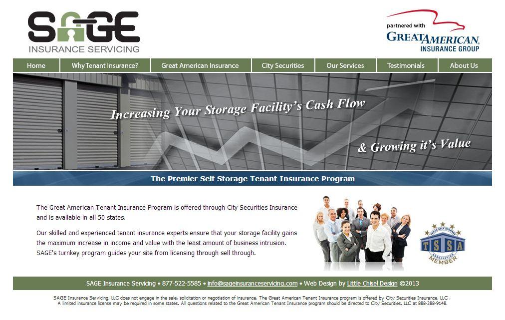 Website Design For Sage Insurance Servicing Tenant Insurance