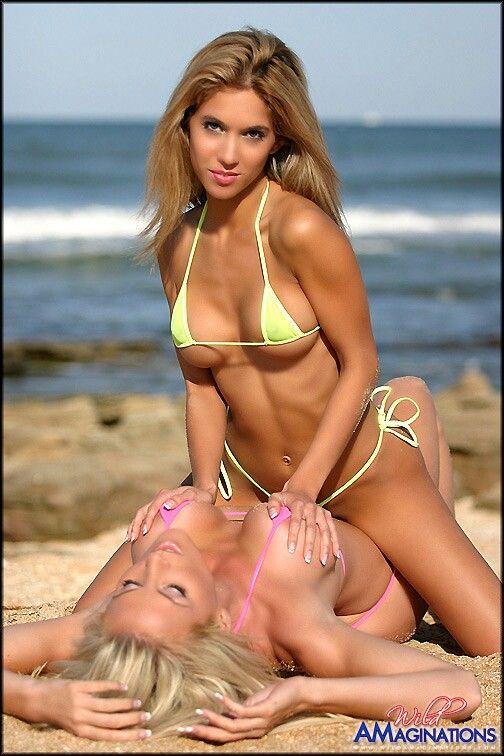 Hot Lesbians Kissing In Bikinis