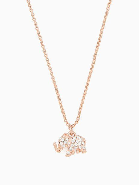 402eb2d5bfb10 Kate Spade Things We Love Pave Elephant Mini Pendant, Clear/Rose ...
