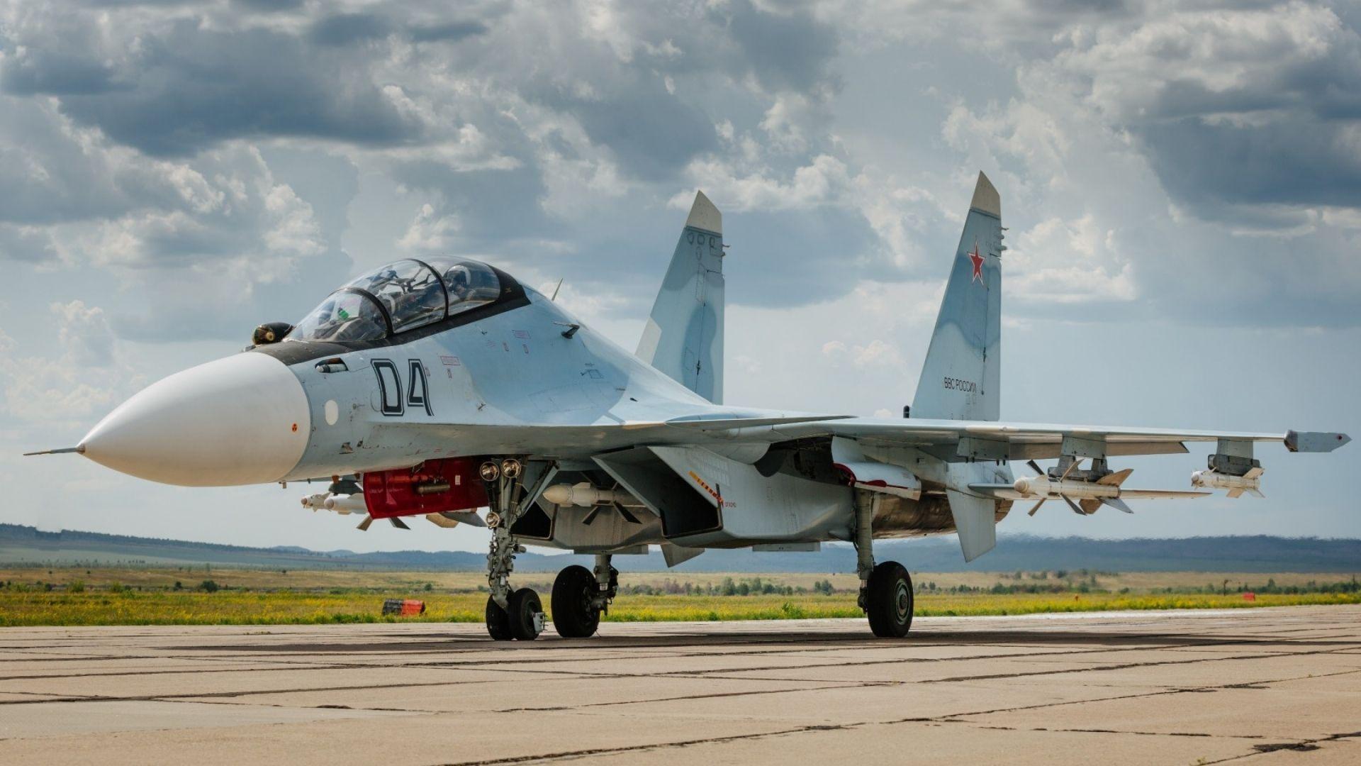 Обои Sukhoi, Su-30sm, истребитель, многоцелевой. Авиация foto 15