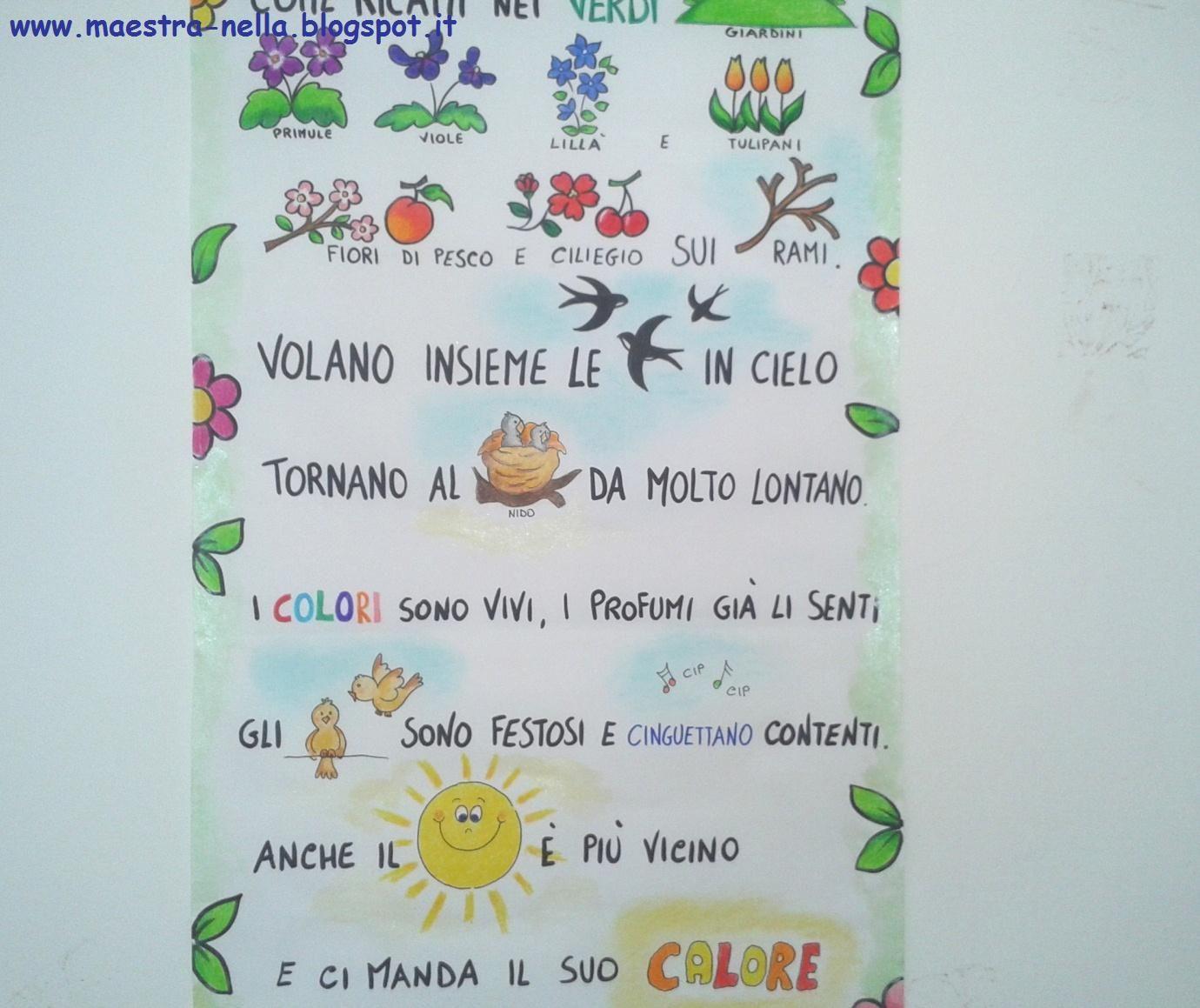 Disegni idee e lavoretti per la scuola dell 39 infanzia e for Maestra sandra pasqua