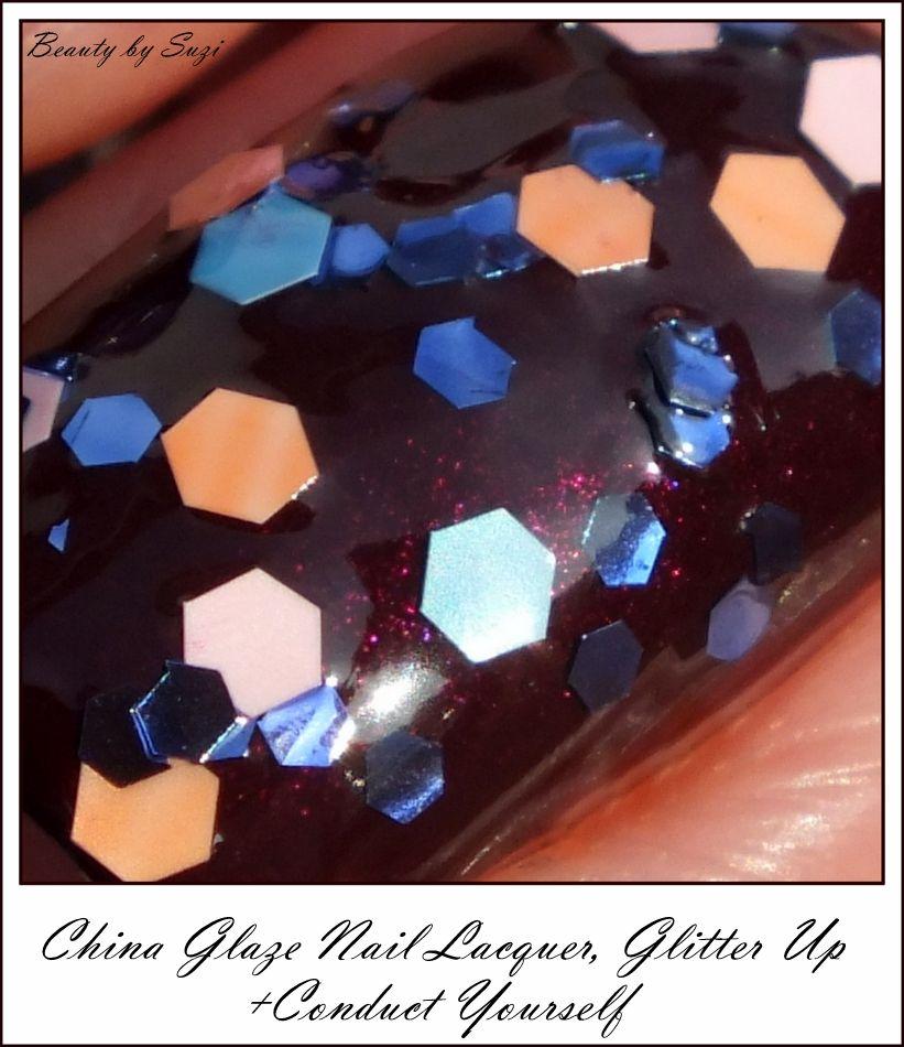 China Glaze Nail Lacquer, Glitter Up (on China Glaze, Conduct Yurself)