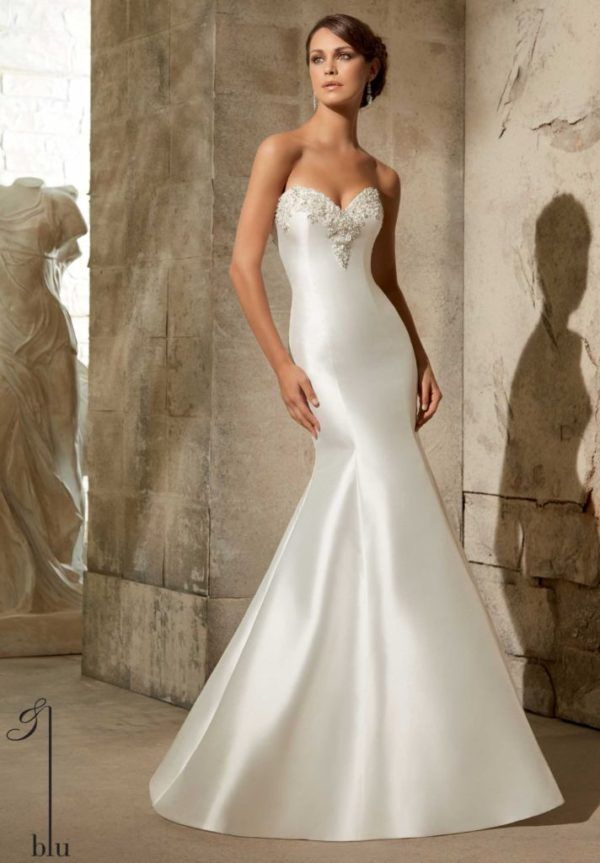 vestidos-de-novia-corte-sirena-sencillo | bodas | pinterest | mori