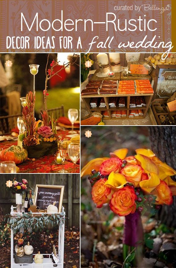 Chic fall wedding decor ideas with a contemporary style