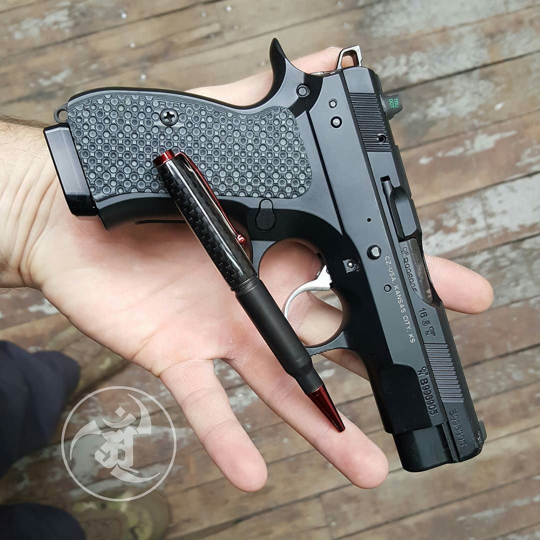 What is mightier? The pen or the sword? @czusafirearms CZ75