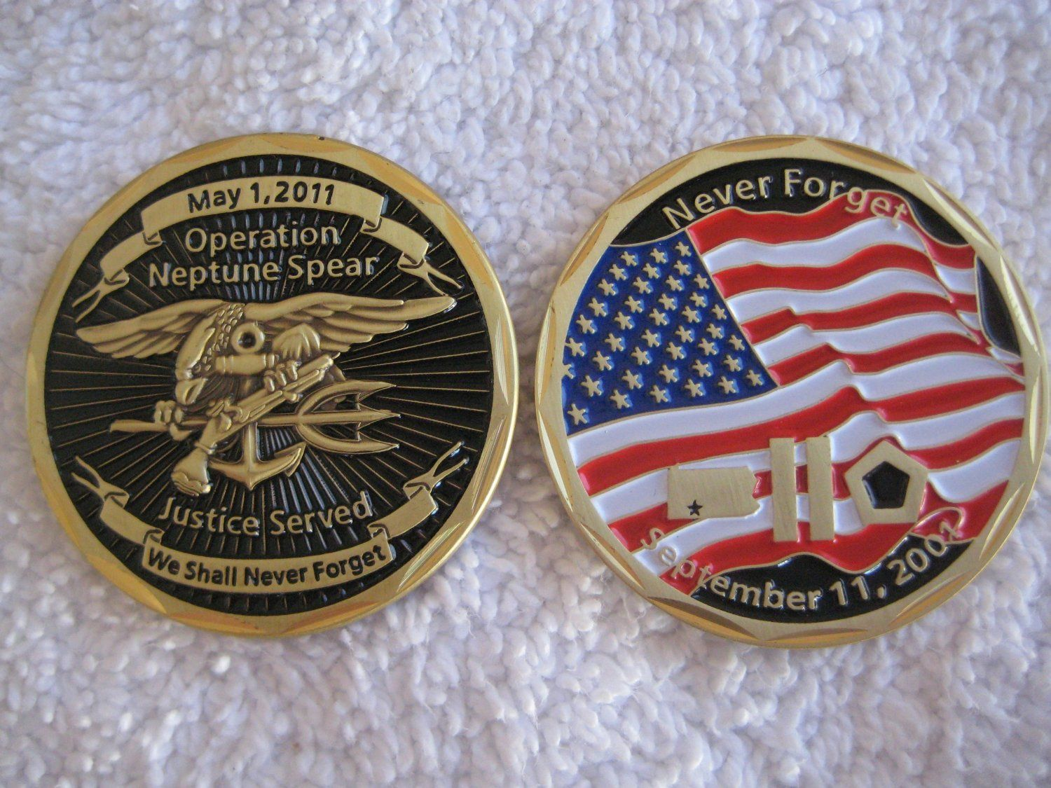 Operation Neptune Spear Navy Seal Challenge Coin Bin