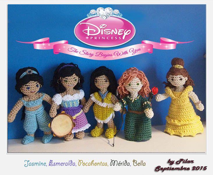 Amigurumis Personajes De Disney : Amigurumi princesas disney amigurumi community board