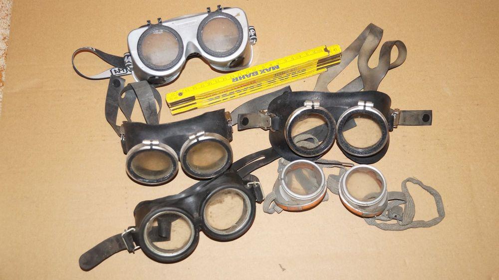 Steunk Deko posten alter schutzbrillen schweißerbrillen industriedesign loft
