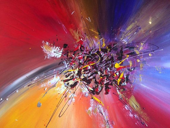 RESERVED abstract emotcion .Acrylic Abstract Painting by miveart
