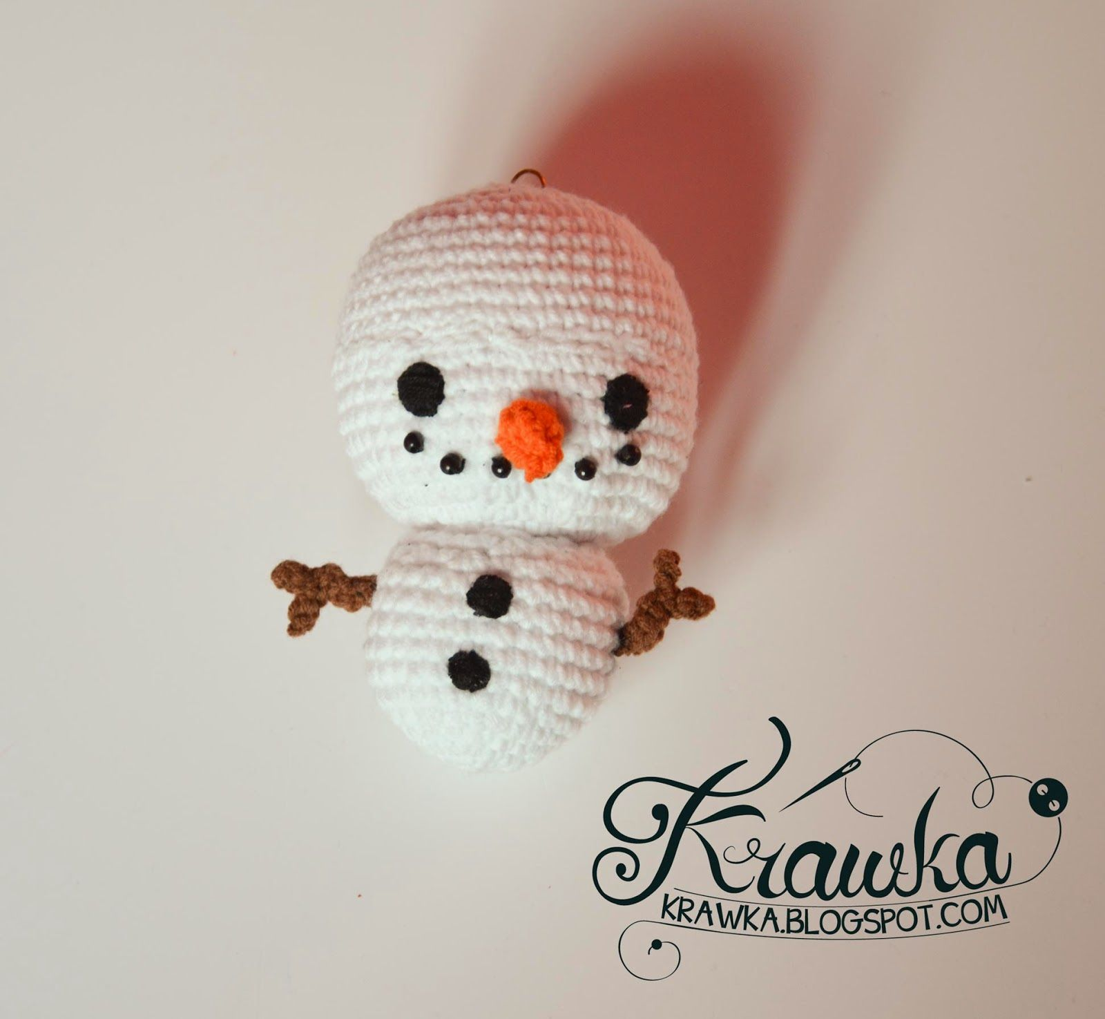 Krawka: Snowman Christmas Tree ornament crochet free pattern ...