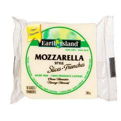 Earth Island Mozzarella Slices 200g Mozzarella Rainbow Food Vegan Cheese