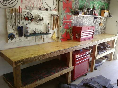 Maximize Your Workbench Garage Workbench Plans Garage Work