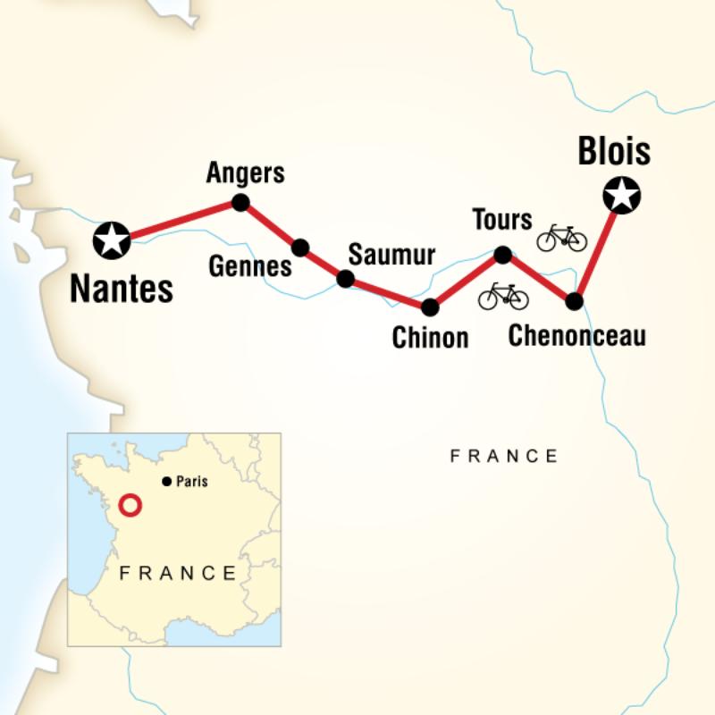 Gap Loire Valley Cycling Tour 1200 Cdn 8 Days Blois To Nantes