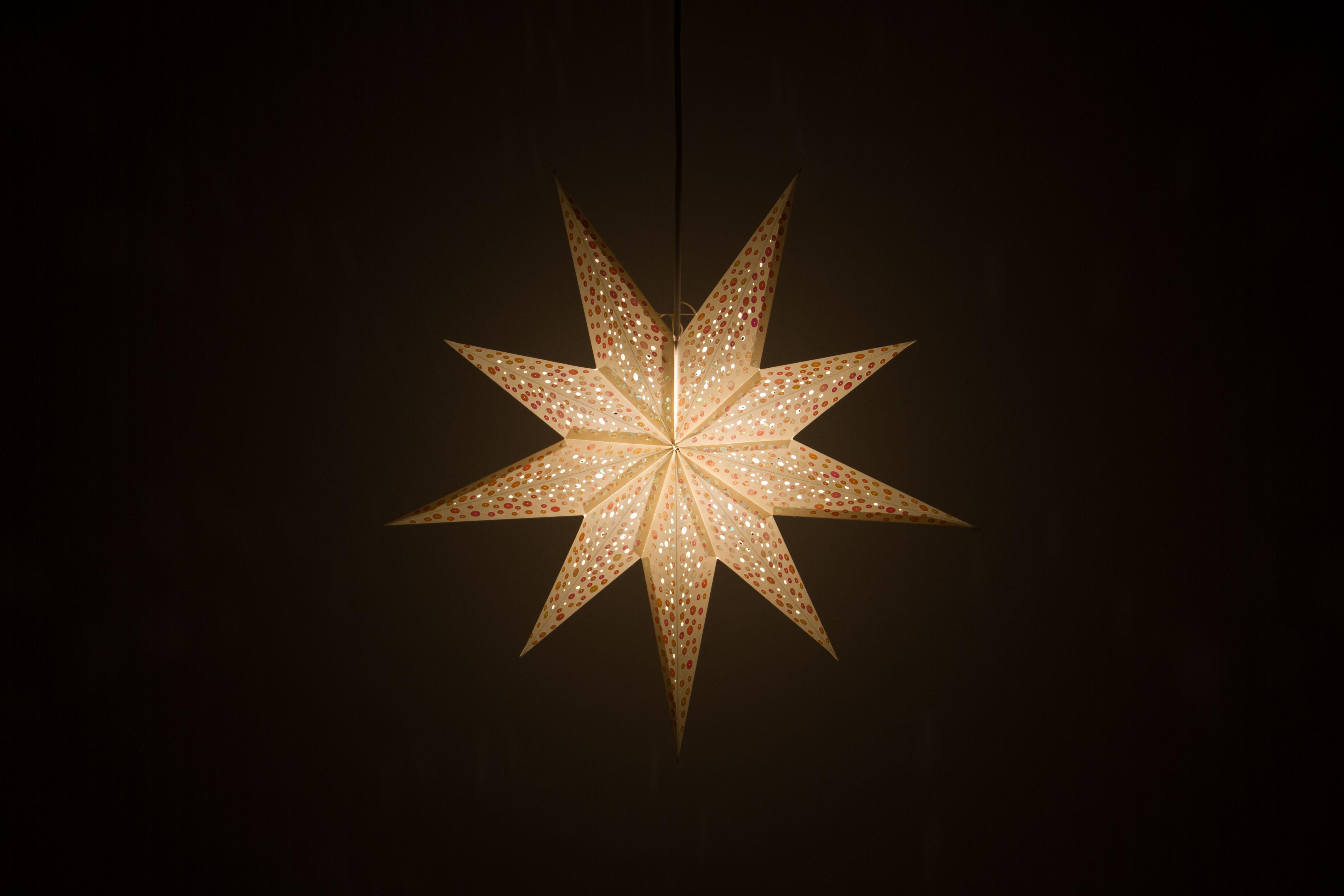 Spirit Pebble Grey Decorative Paper Star Light Shade Paper Star