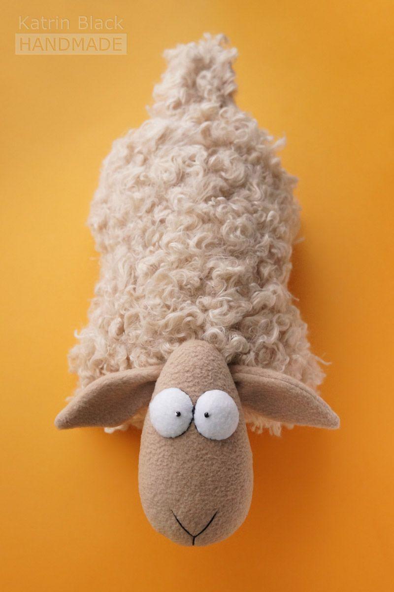 Выкройка подушек овечек