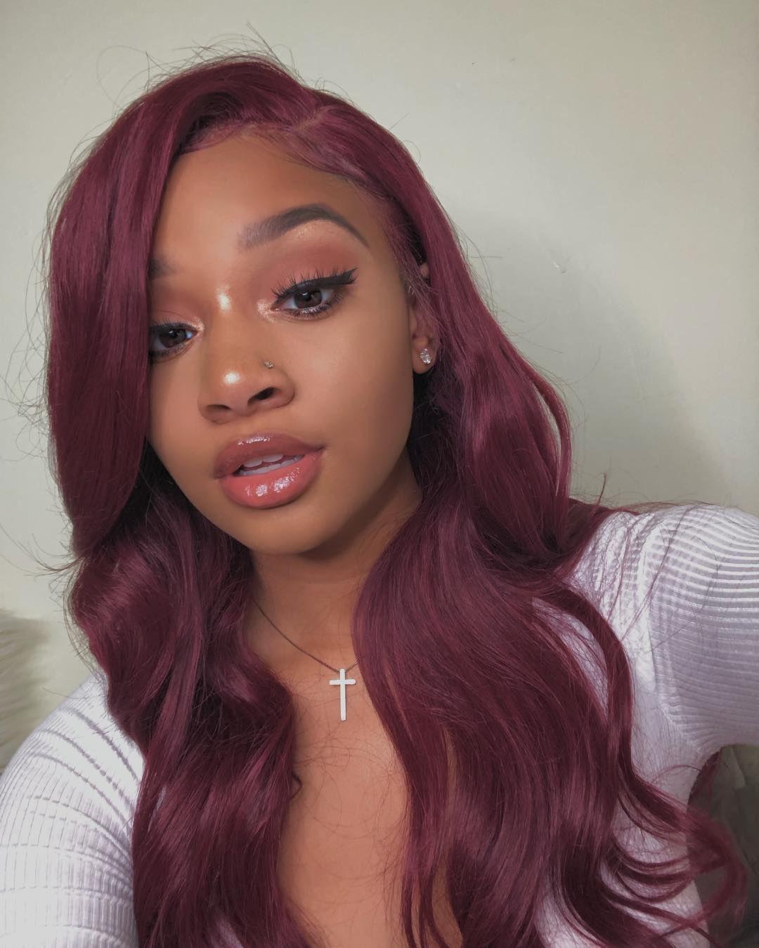 2020 的 99j Hair Color Lace Front Wigs Straight Human Hair