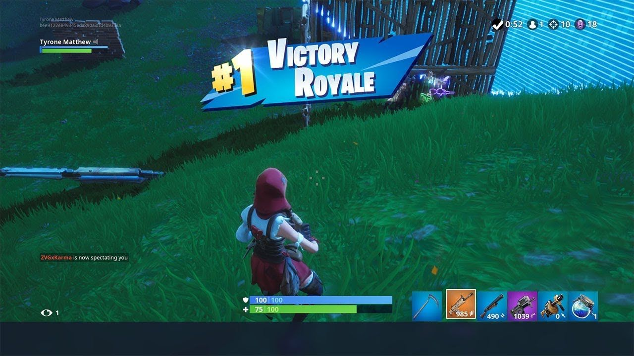Pro Console Player Getting A 10 Kill Solo Win In Fortnite