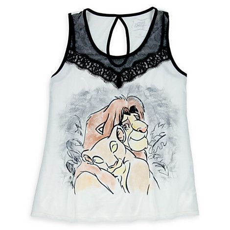 Simba and Nala Lace Tank Top for Women by Disney Boutique  8d03cec041