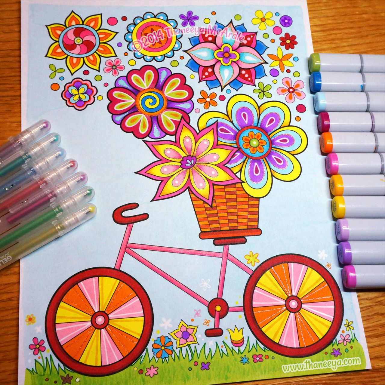bicycle coloring page from thaneeya mcardles hipster coloring book httpwwwamazon - Hipster Coloring Book