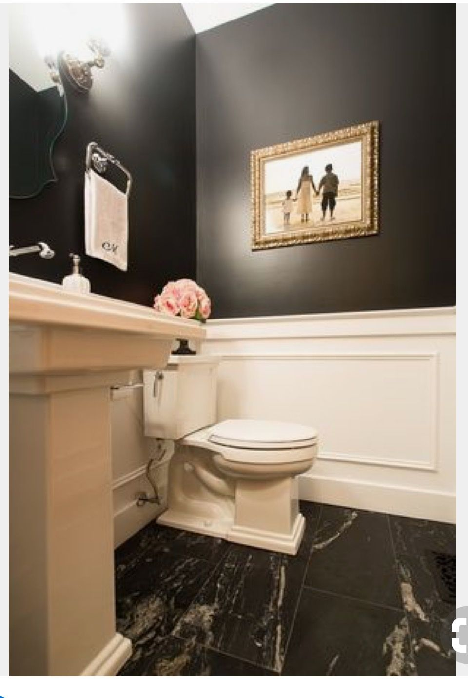 View this Great Traditional Powder Room with