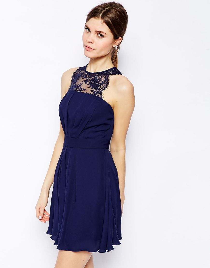 f8a786416e15 Elise Ryan Skater Dress with Scallop Lace Trim | Put it on me ...
