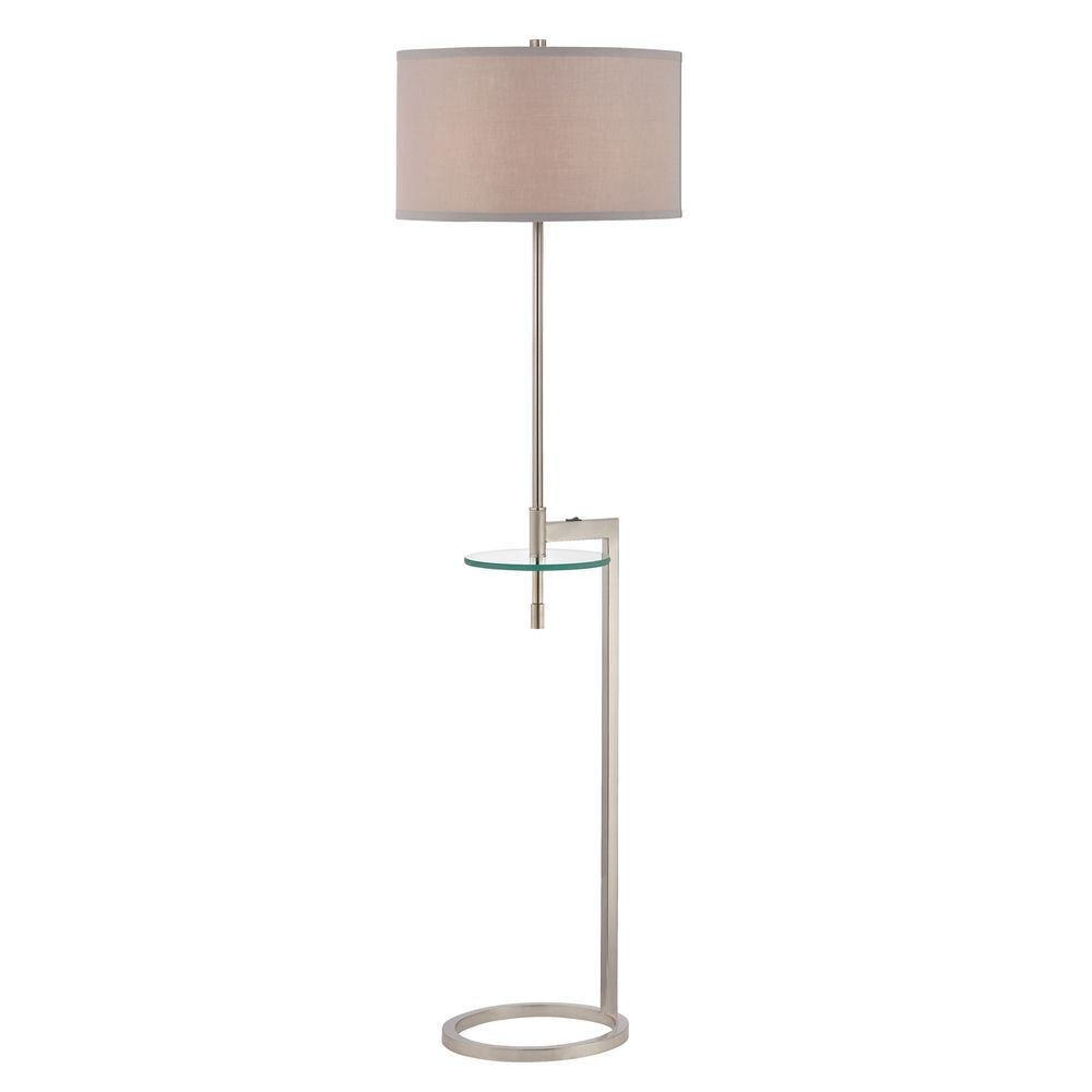 Floor Lamp With Gl Tray Table
