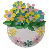 Paper Plate Flower Basket Spring Crafts For Kids May Day