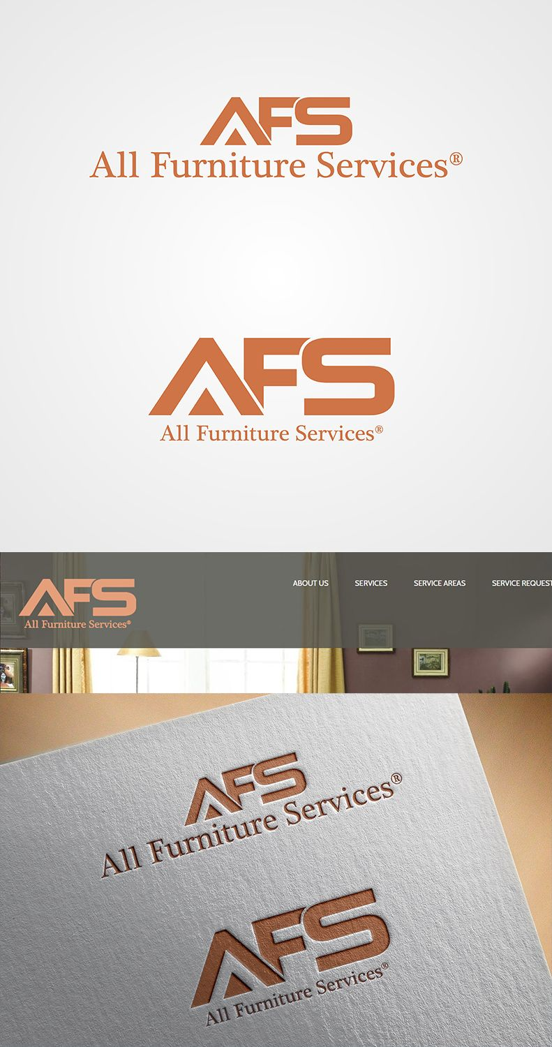Afs All Furniture Services Logo Professional Upmarket Logo