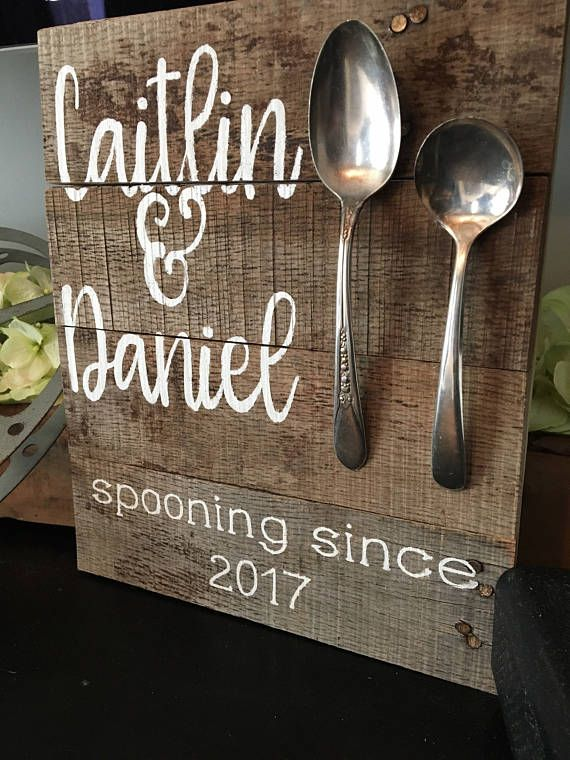 Farmhouse spooning since sign personalized wedding gift gifts farmhouse spooning since sign personalized wedding gift gifts pinterest farmhouse spoons spoon and gift negle Images