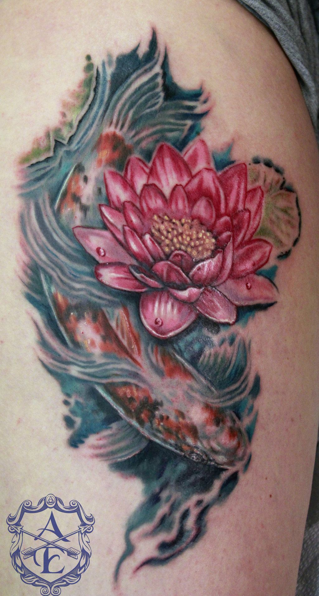 Lotus Flower With Koi Fish Tattoo By Seanspoison On Deviantart Flower Tattoo Meanings Koi Fish Tattoo Meaning Koi Fish Tattoo