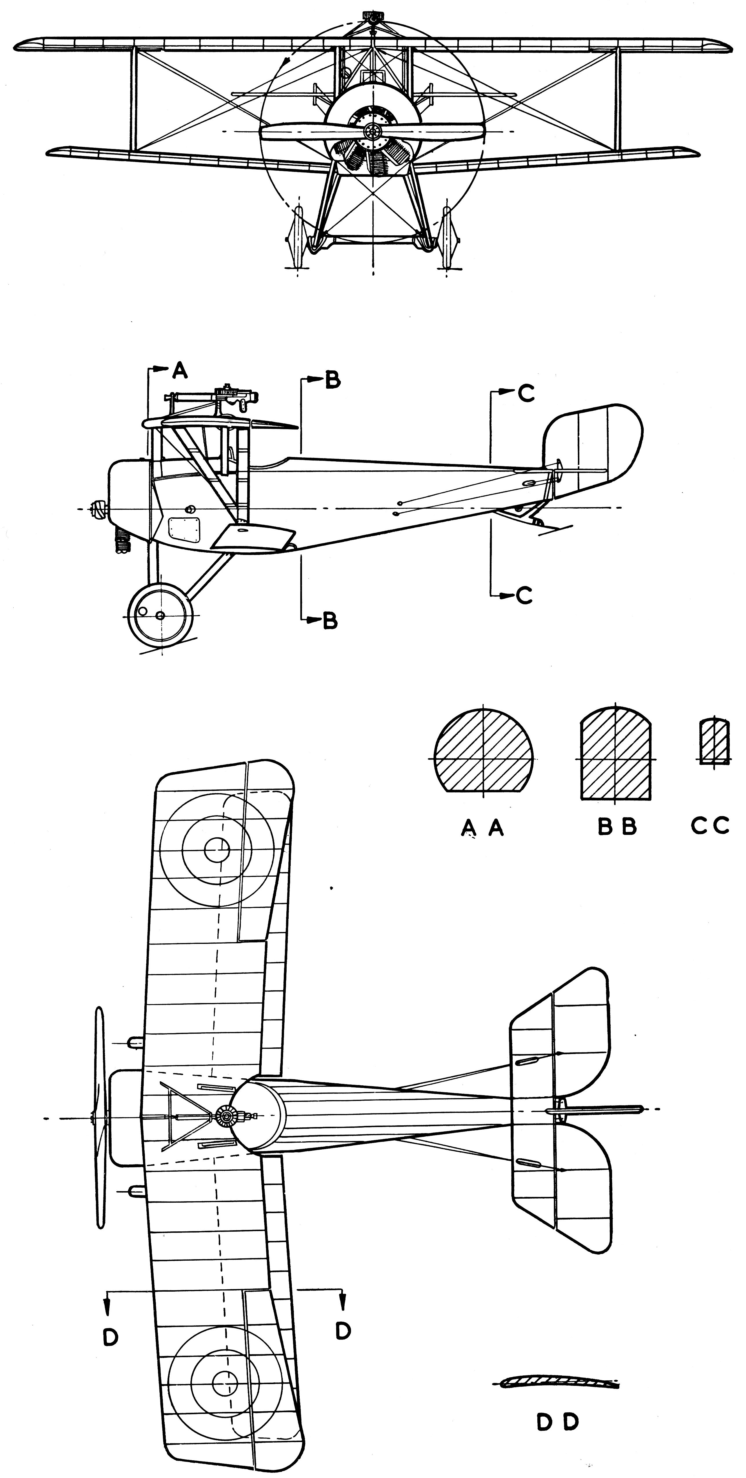 Nieuport 11 blueprint | Blueprints | Model airplanes, Model