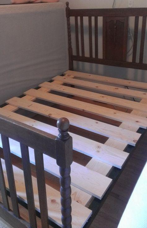 Let Me Fix You Box Spring To Bed Slats Spring Bed Frame Box