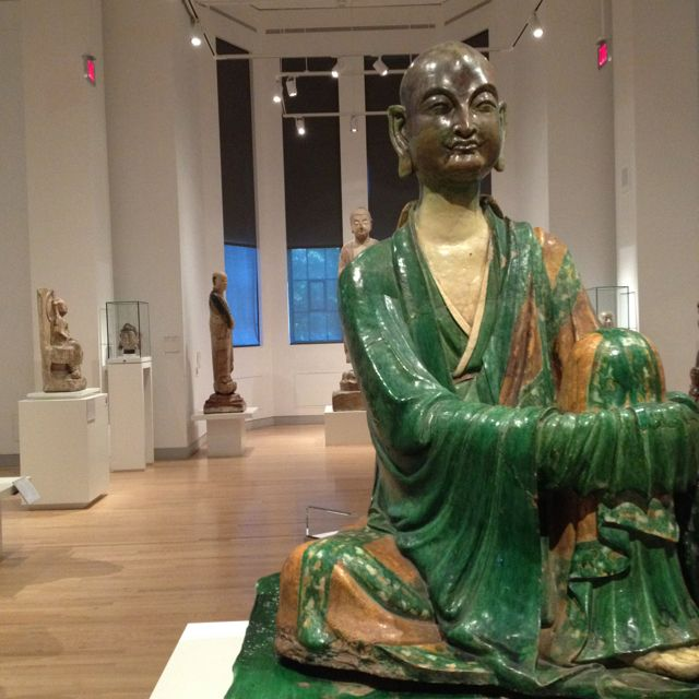 07/11 ... An 11th century Luohan from YiXan greets visitors to the China gallery at the Royal Ontario Museum (ROM)