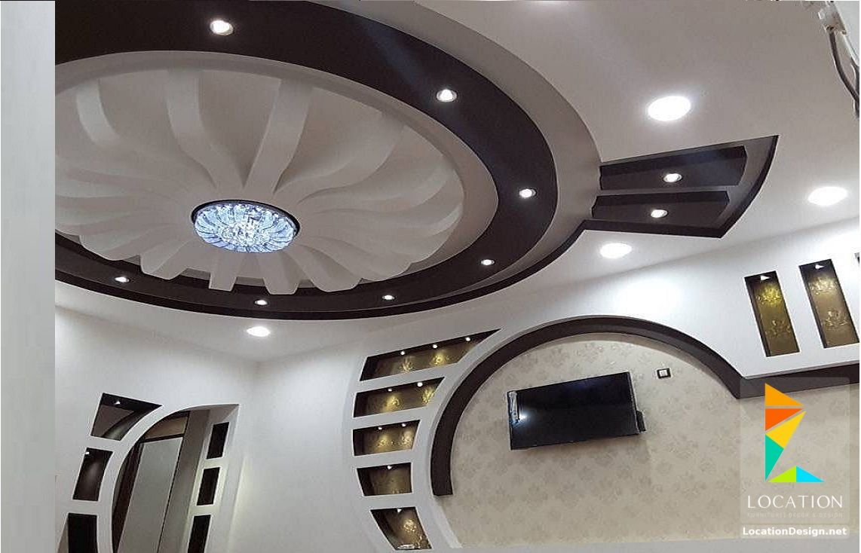 ديكورات جبس اسقف راقيه 2018 تصميمات جبسيه للشقق المودرن لوكشين ديزين نت False Ceiling Design Pop Ceiling Design New Ceiling Design