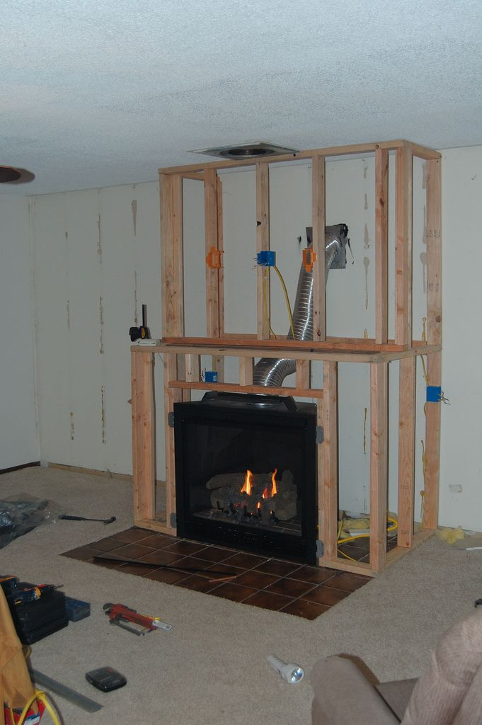Amazing diy fireplace and built ins home decoration for Building an indoor fireplace