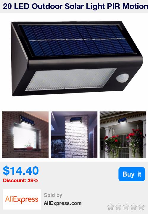 Bright Outdoor Solar Lights Classy 60 LED Outdoor Solar Light PIR Motion Sensor Waterproof Garden Yard