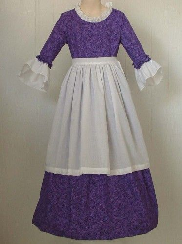 Colonial Day Girls Colonial Market Day Dress Costume Custom For