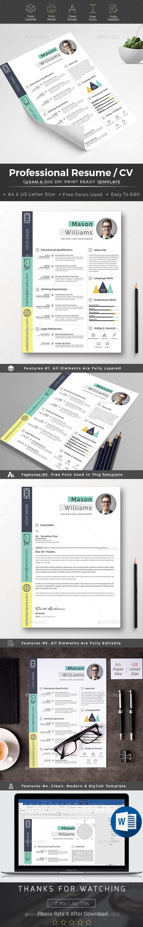 Resume  U2014 Photoshop Psd  Cover Letter  Resume Template  U2022 Download Graphicriver Net