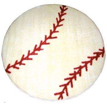 3599 LA Rug Baseball 39 Inch Nylon Round From Get It Here