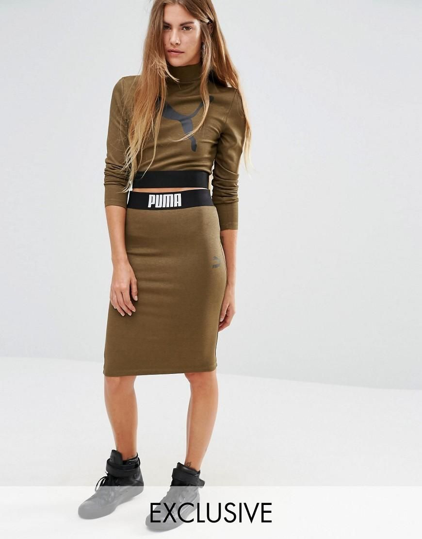 puma 2 piece set womens. puma | exclusive to asos bodycon skirt co ord at 2 piece set womens n