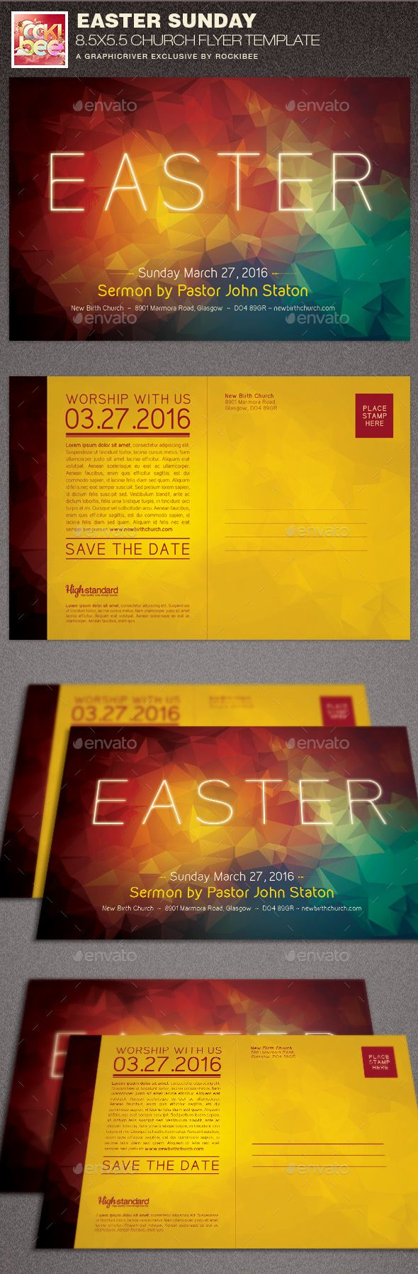 Easter Sunday Church Flyer Template