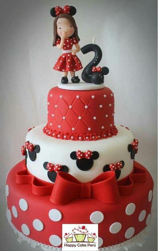 Torta Minnie | Torte, Torte cartoni animati, Minnie compleanno