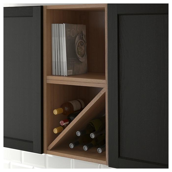 Vadholma Range Bouteilles Brun Frene Teinte Ikea Etagere A Vin Range Bouteille Idees Etageres