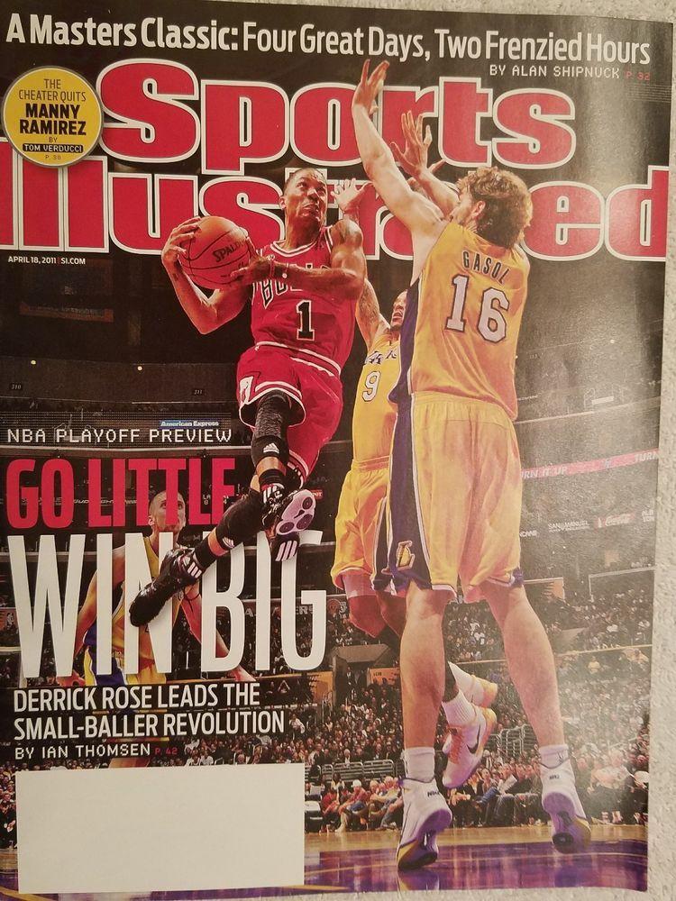 Sports Illustrated April 18, 2011 NBA Bulls Lakers Derek Rose Gasol No Label