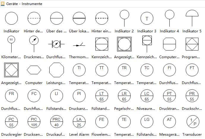 PFD Symbole | Elektrische Schaltpläne Konstruktion | Pinterest